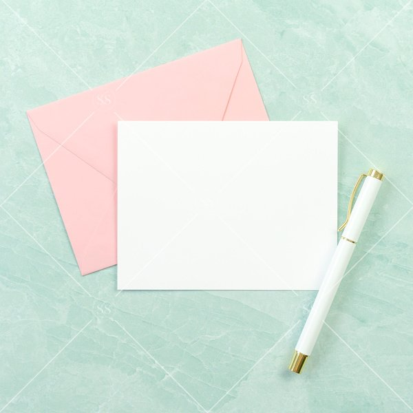 stationery mockup with envelope