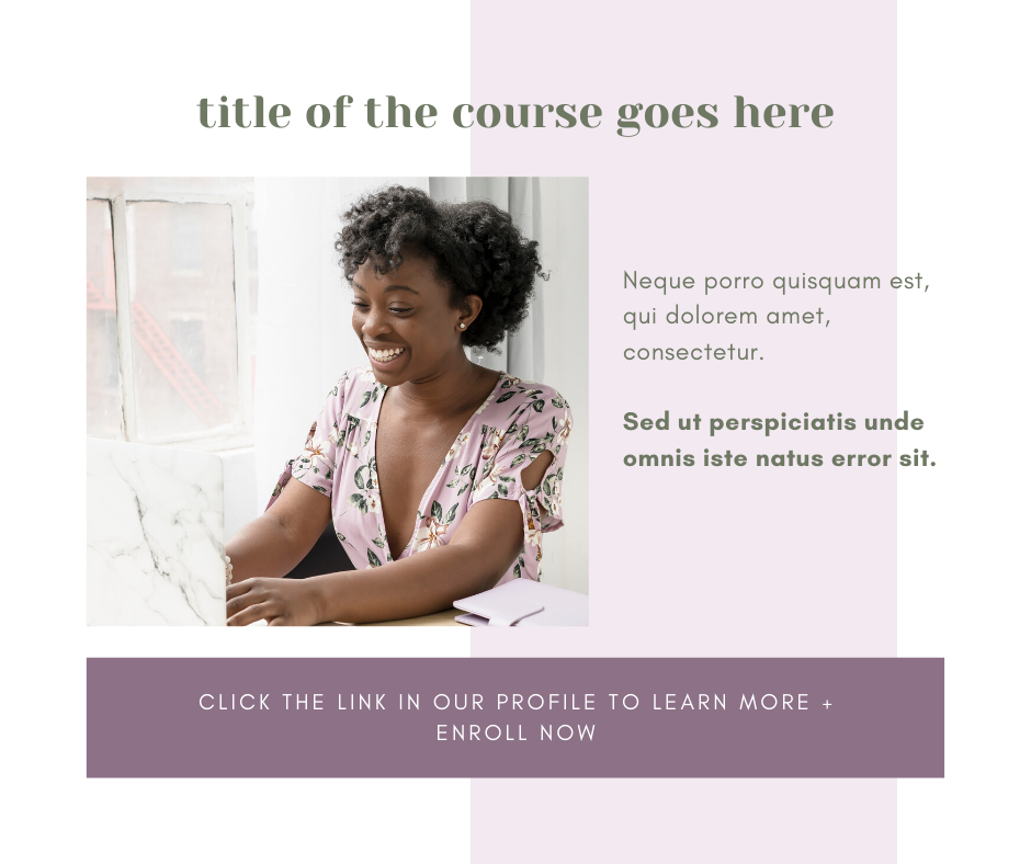 online course launch facebook call to action canva template graphic